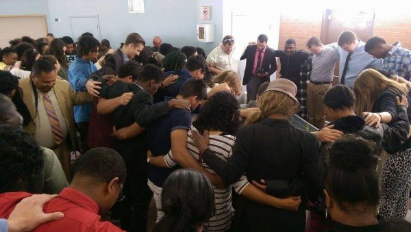 20160410_04-The Family of Christ prays for their new brother in the faith!