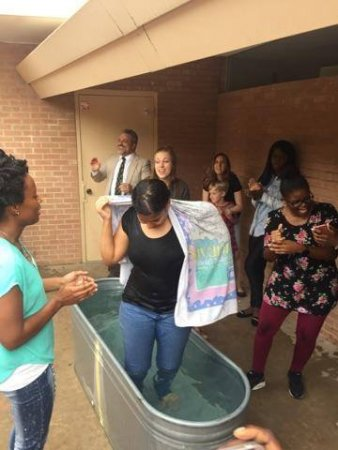 20161002_05-The congregation celebrate the birth of their new sister in Christ!