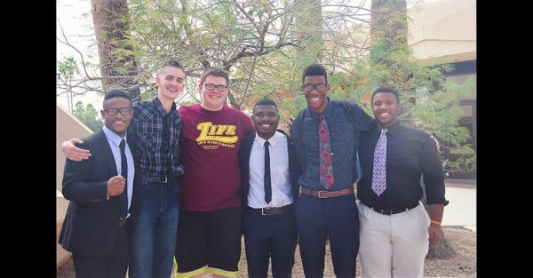20160305_03-Nelson pictured with the men who studied the Bible with him!