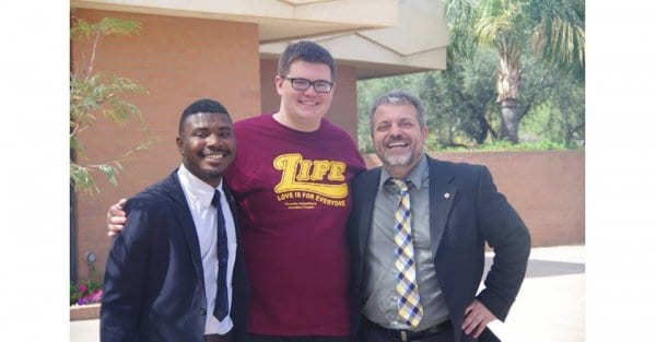20160305_05-Nelson with Marvell Holder and Jeremy Ciaramella who helped him through his journey towards God!