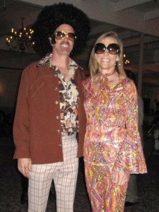Matt & Helen Sullivan – the leaders of the Orlando Mission Team – after winning the costume contest at our 70's Marrieds Valentines Dinner and Dance!