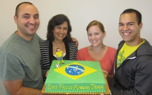 The valiant leaders of the Crown of Thorns Church in Sao Paulo – Raul & Lynda Moreno and Tyler & Shay Sears!