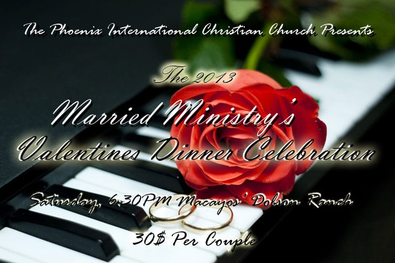 The Married Ministry's 2013 Valentines Dinner Celebration