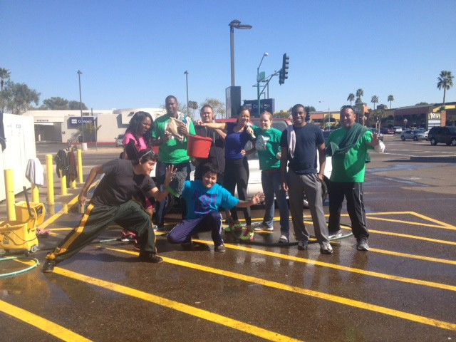 Discples from the North House Church rally for their Missions Car Wash!
