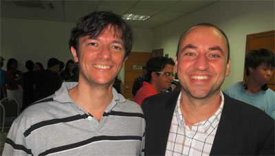 Excitingly , the Spirit moved Renato Tria (left) – along with those under his leadership from the Sao Paulo ICOC – to join Raul Moreno in God's new movement!