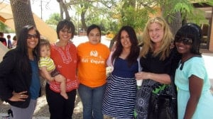 Vanessa (center, right) with the sisters who studied with her!