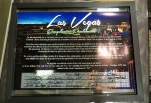 The Las Vegas Evangelization Proclamation is signed by every sold-out disciple of the Las Vegas Church!