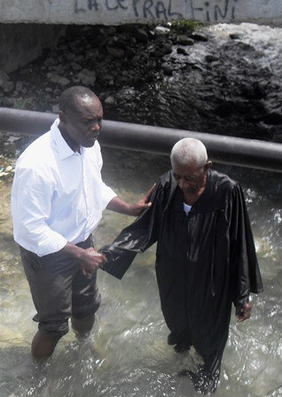 "LATOUR Reles has been preaching for 40 years, but when ""taught the way of God more accurately,"" he joyfully embraces the truth and is baptized into Christ!!"
