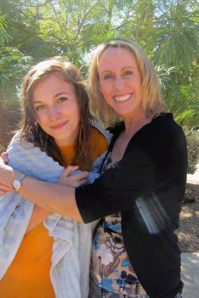 Sydney and her mother who was encouraged by her baptism!