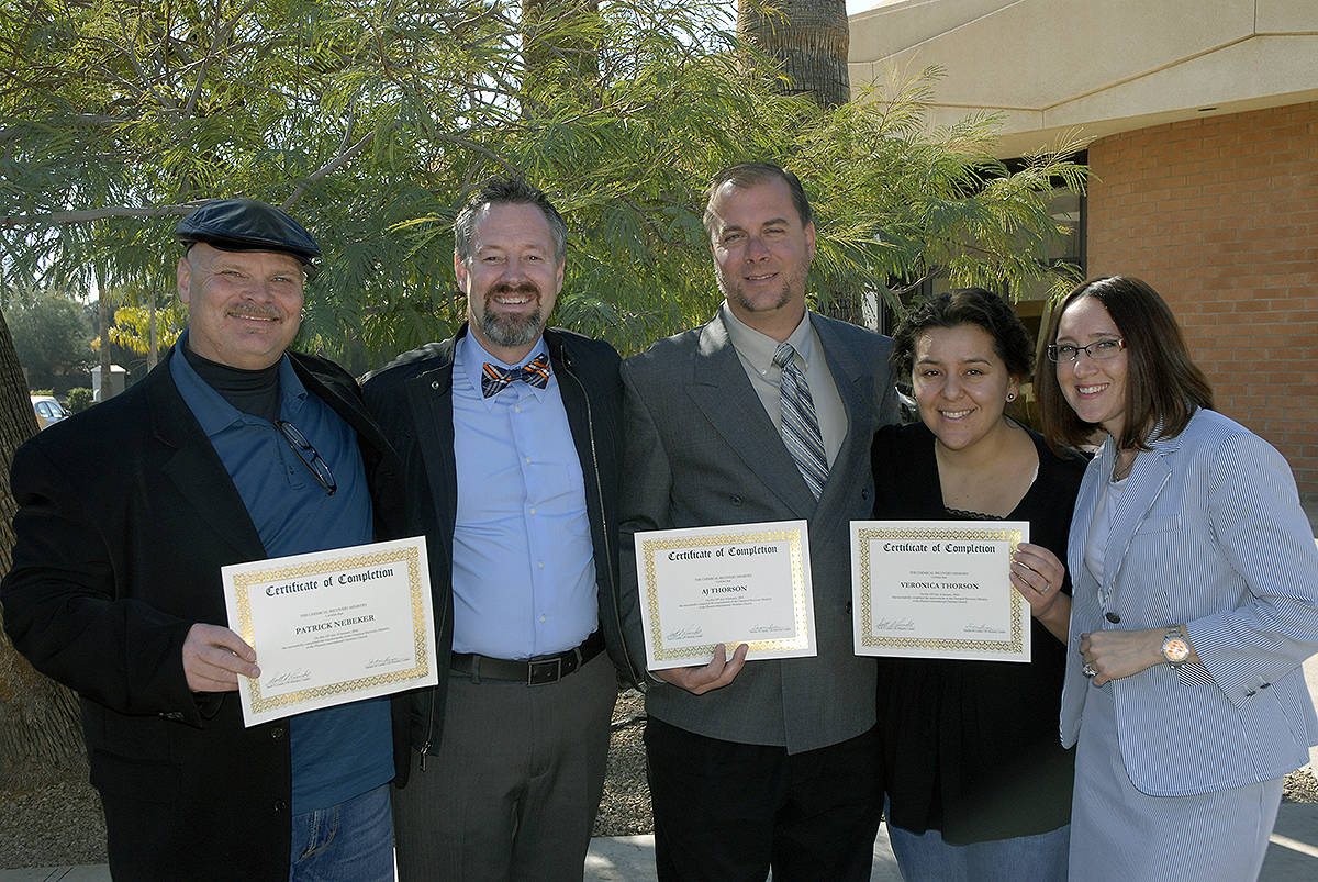 Pat Nebeker, AJ Thorson and Ronnie Thorson pictured here with their CR Graduation certificates - we are grateful to God and Scott and Sandy Lunde's sacrifice to continually build this ministry