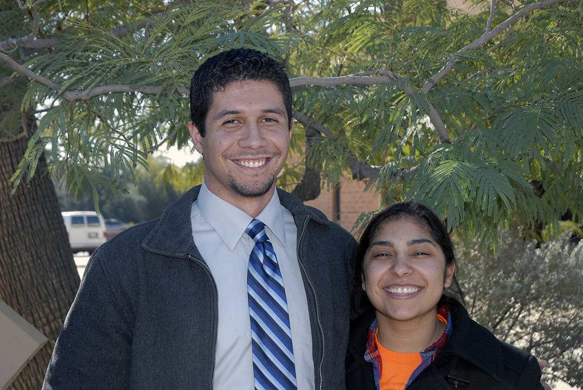 Beginning a great work in the LORD, Javier Sandoval and his girlfriend Danielle Savedra being the Spanish speaking ministry here in Phoenix with their bible talk!