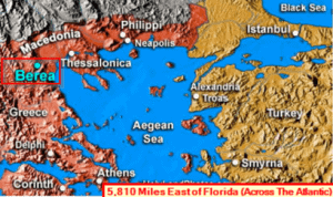 """The ancient city of Berea was located in the Macedonian province of Rome of what now is modern day Greece.  """"Now the Bereans were of more noble character...for they received the message with great eagerness and examined the Scriptures every day to see if what Paul said was true."""""""