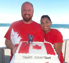 """Returning home to Canada, Tim & Lianne are getting """"To have their cake and eat it too"""" as they lead the Toronto mission team!"""