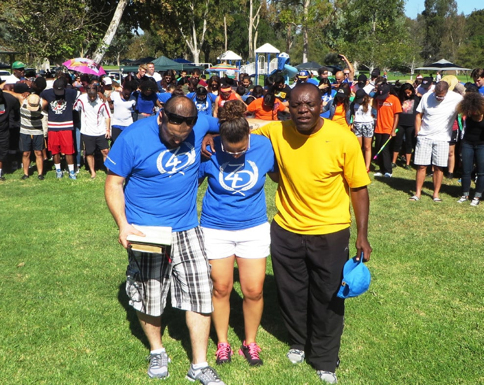 THE CITY OF ANGELS CHURCH ANNUAL LABOR DAY FUN DAY AND PICNIC WAS OUTSTANDINGLY DIRECTED BY LUKE & BRANDYN SPECKMAN (BLUE SHIRTS)! BLAISE FEUMBA (YELLOW SHIRT) GAVE A FIERY OPENING PRAYER!