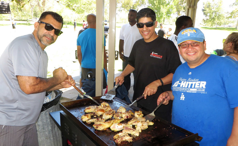 "THE GRILLMASTERS – MARTIN ZEPEDA, SAMEER FRENZLEY AND GINO ARIZMENDI – PREPARING A ""KINGDOM FEAST"" FOR THE VICTORIOUS OC REGION!!"