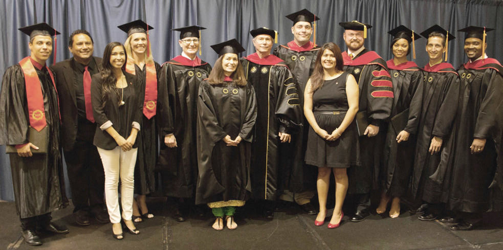 AT THE GLC, THE ICCM FACULTY AND THE BOARD OF REGENTS (ABOVE) AWARDED 58 BA DEGREES, FOUR MASTERS DEGREES, AND ONE DOCTORATE DEGREE IN MINISTRY!