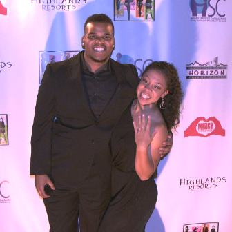 Rico and Janelle celebrate their engagement!