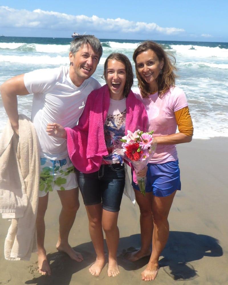 Oleg & Aliona's prayers were answered by God on the day Sofiia was baptized!