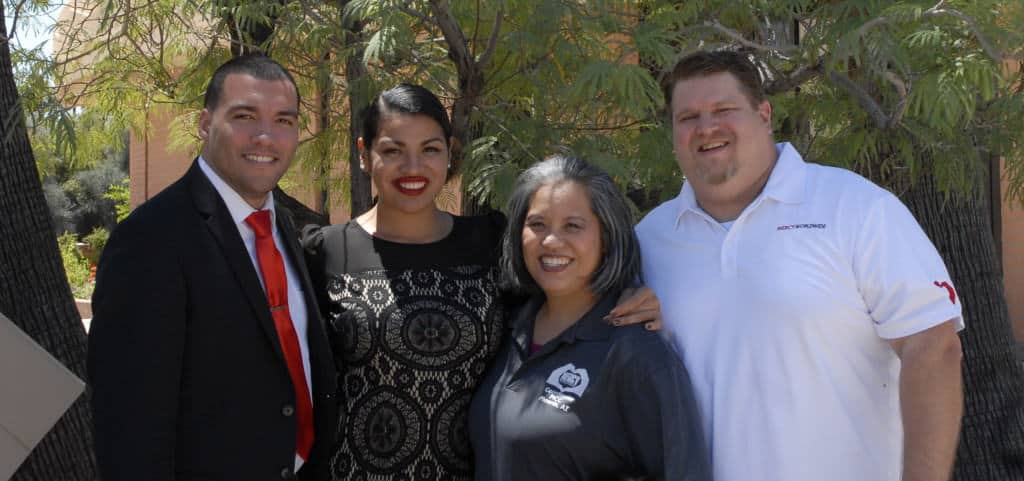 """The Phoenix family welcomes our dear sister Gabrielle from our sister church in Santa Barbara!  We are thankful for great examples in God's Kingdom of pure dating and are excited to see God work through Anthony & """"Gabby's"""" relationship!"""