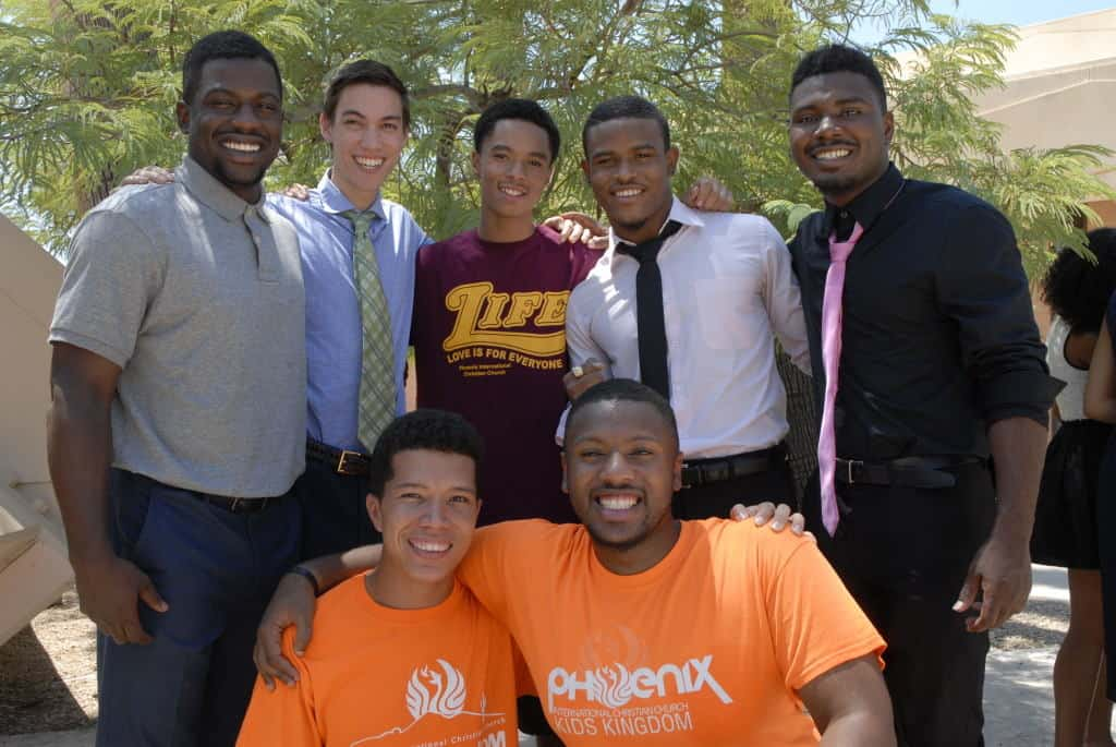 What an encouragement to the campus men it was to see Damaya Pearson baptized into Christ! (Top row, center)