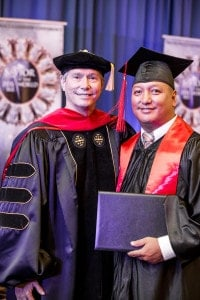 The beloved Mark Garrido graduates with his BA in Ministry!