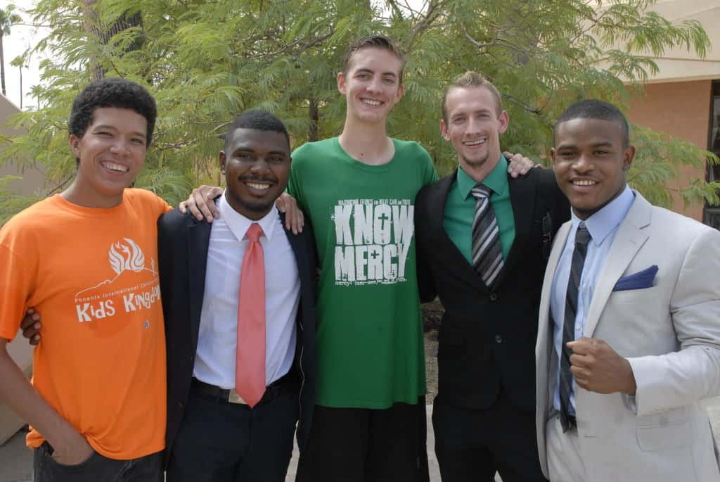 Brent Madison is pictured here with some of the brothers who studied the bible with him!