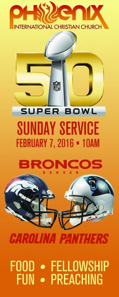Sunday at 10AM, Bring Your Neighbor Day Super Bowl Sunday! 5902 E. Camelback Rd Phoenix AZ