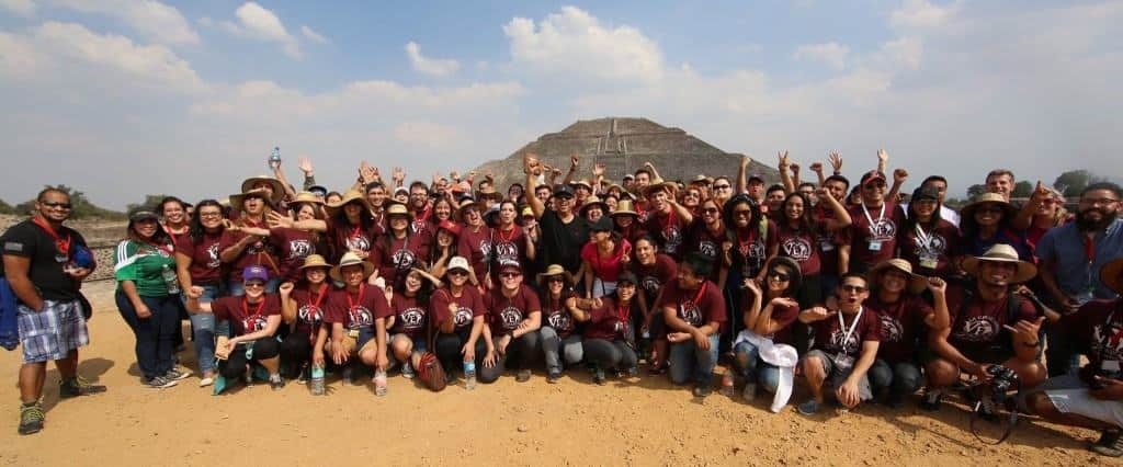 """""""The Pyramid of the Sun"""" in the background is the third largest in the entire world! Once on top, we sang together (in Spanish) """"You are the one God, the True God!"""" Check out this month's Good News Email for more about the LAMC conference and more!!"""