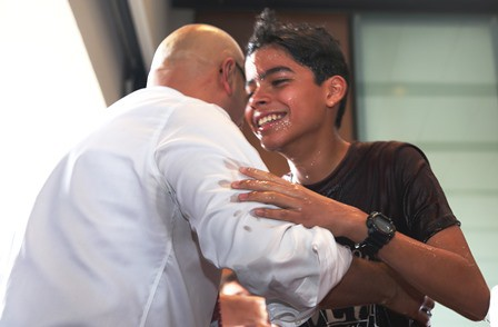 What a joy to see Carlos and his son united in Christ as father & son and brothers in the LORD!