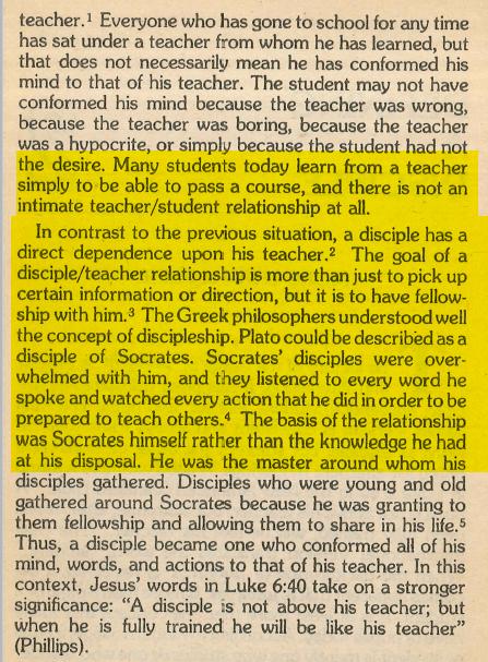Milton Jones - Contrast and Clarification of Disciple verses Student/Pupil.