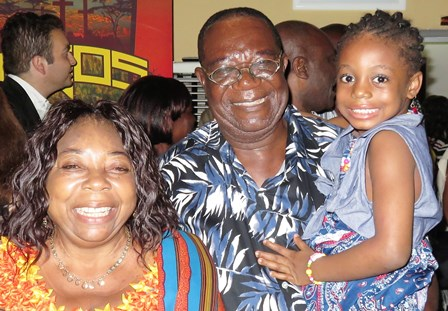"""At the banquet, Kip & Elena are reunited with Benedict Atason - """"the Man of Nigeria"""" - and meet for the first time his lovely wife Felicia and his granddaughter Anita!"""