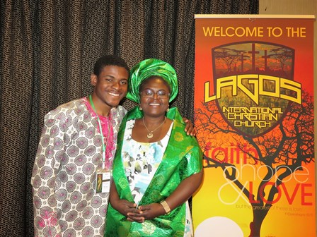Josh Ajaiji's family is Nigerian, so his mom flew all the way from Chicago to attend the Inaugural!