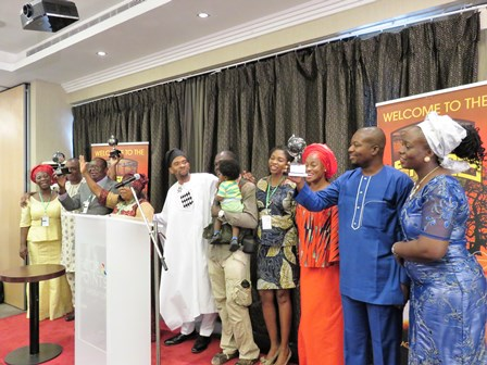 Lagos Mission Team UpSideDown Globes were presented to the key Remnant Disciples of Nigeria: Benedict & Felicia Atason, Bolaji & Chinyere Akinfenwa, and GoodHope & Bonita Atason!