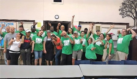The fired-up Toronto MERCY Ambassadors gave a much needed cleaning to the Weston Drop-in Shelter for the homeless!