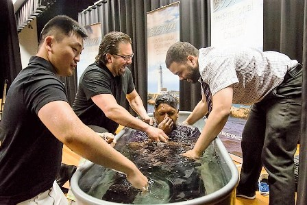 """""""Professor Difusco"""" is ecstatic to baptize Kevin - one of his prized students at the Berklee College of Music!"""