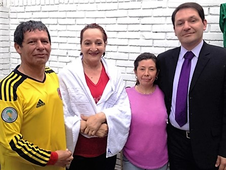Cesar (right) was fruitful on the same day with Gabriel, Nancy and Luz!