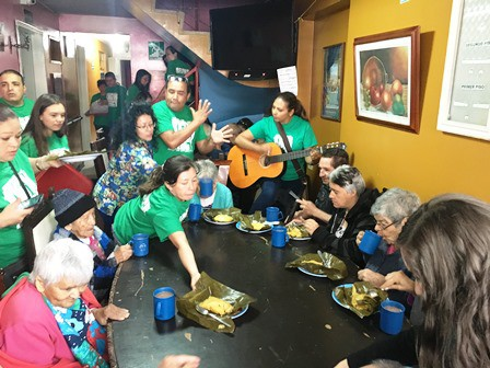 The Bogota MERCY Ambassadors serving breakfast and singing songs!