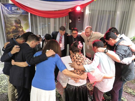 The Holy Spirit brought us peace as we prayed!