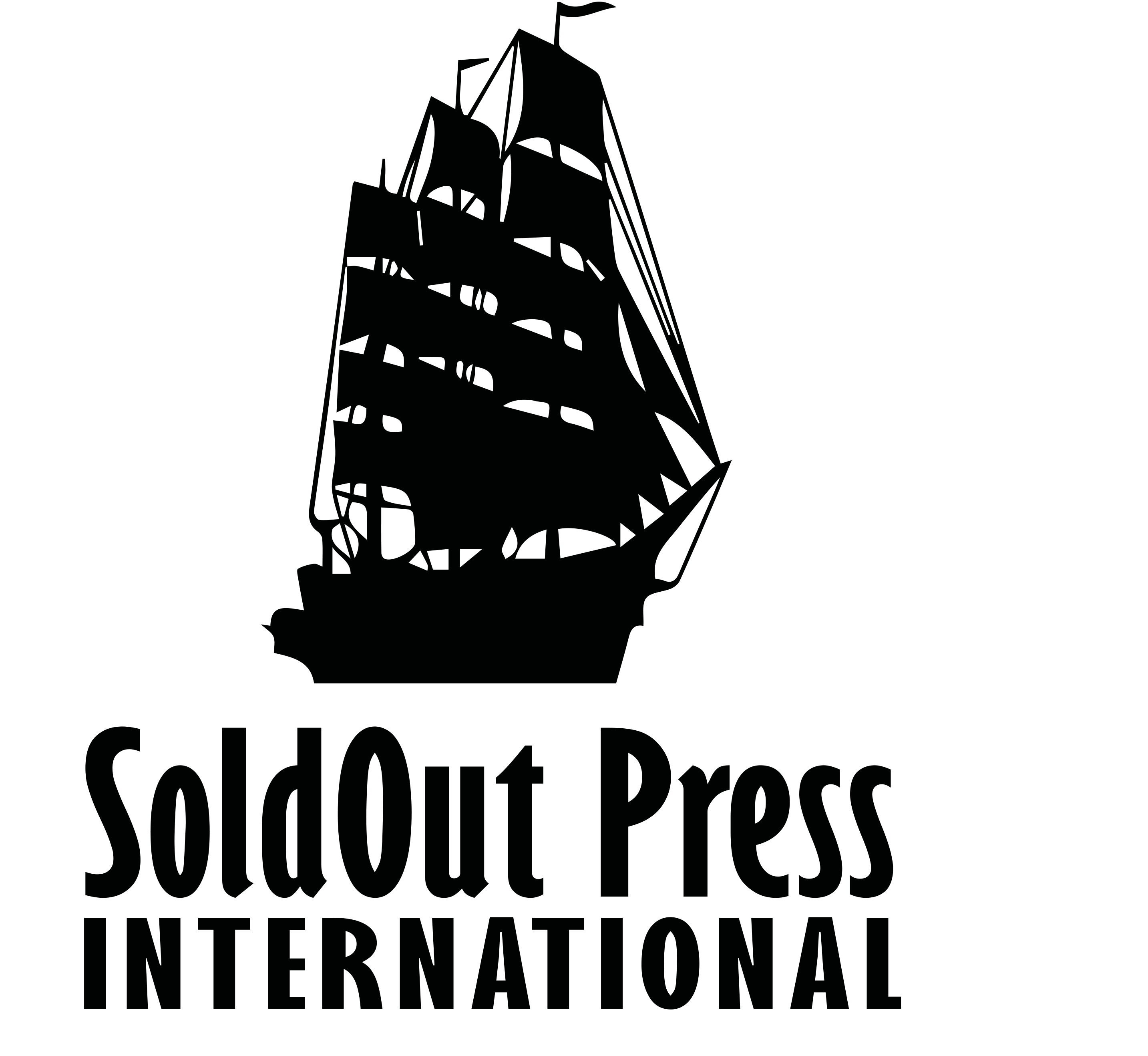 The SoldOut Press International Logo is a Spanish Galleon that carried good news and treasures